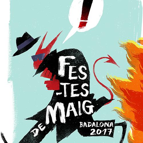 Festes de Maig Badalona 2017 poster design